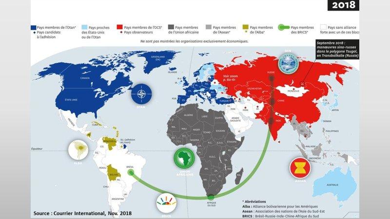 Alliances geopolitiques mondiales en 2018